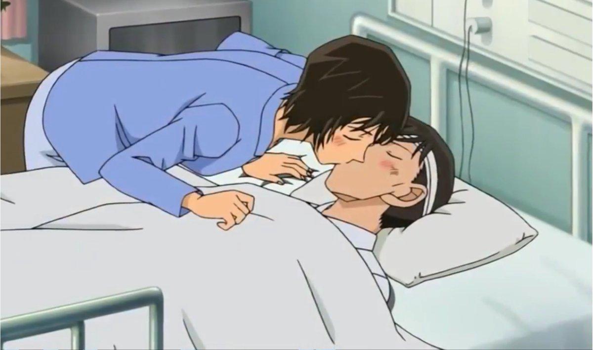 【コナン】高木と佐藤のラブコメ回はアニメ何話?ベッドでキスも!
