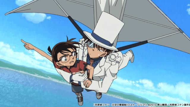 【コナン】映画天空の難破船の声優は誰?佐久島にキッド様降臨!